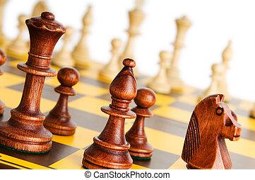 asse, gioco, set, scacchi, figure