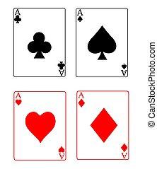 assi, carte da gioco