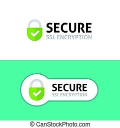 assicurare, cifratura, assicurato, sicuro, ssl, collegamento, protetto, icona, dati
