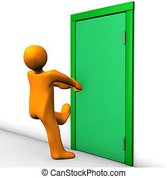 assicurato, porta