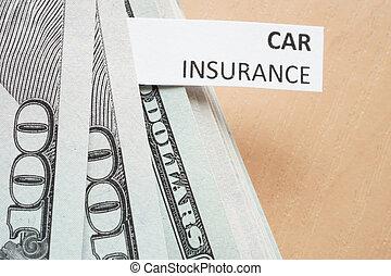 assicurazione, automobile, concetto