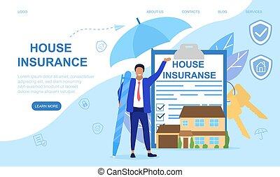 assicurazione casa, concetto, astratto