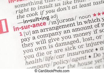 assicurazione, definizione