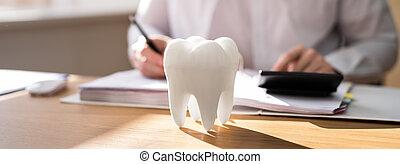 assicurazione, dentale, finanza