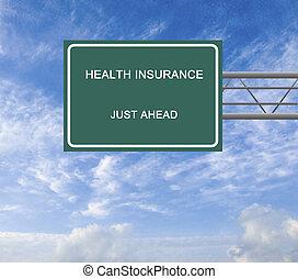 assicurazione sanitaria, segno strada