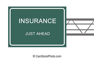 assicurazione, segno strada