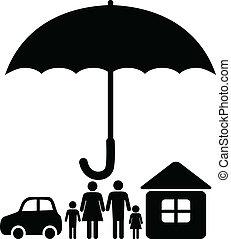 assicurazione, segno