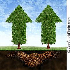associazione, crescita, affari