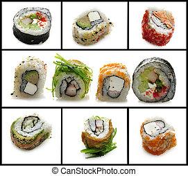assortimento, sushi