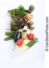 assortimento, verdura