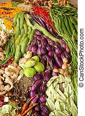 assortimento, verdure fresche