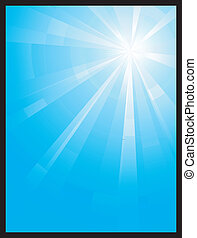 assymetric, è scoppiato blu, luce, verticale