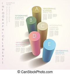 astratto, 3d, cilindro, infographics