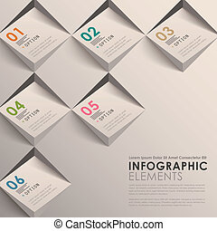 astratto, 3d, infographics
