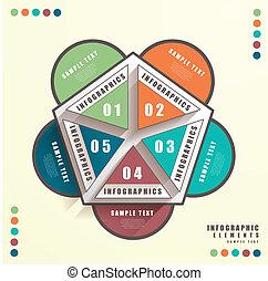 astratto, 3d, pengaton, infographics