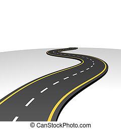 astratto, andare, autostrada, orizzonte
