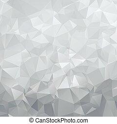 astratto, argento, triangoli, poligono