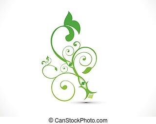astratto, artistico, verde, floreale