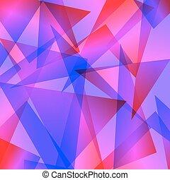 astratto, blu, differente, fondo, fractal, rosso, colori