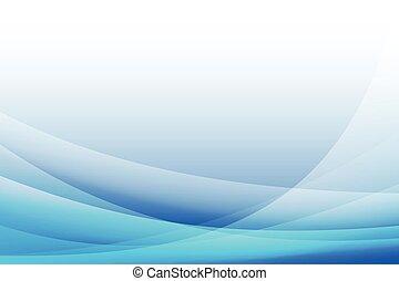 astratto, blu, illustrazione, curva, fondo, vettore