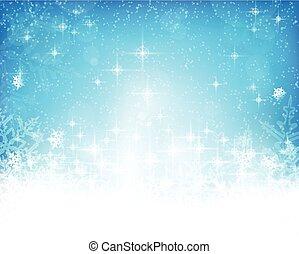 astratto, blu, natale, inverno, fondo, bianco