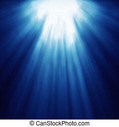astratto, blu, velocità, zoom, luce, dio