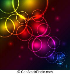 astratto, bolle, colorito
