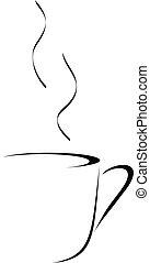 astratto, caffè