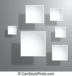 astratto, carta, 3d, grafica