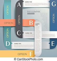 astratto, carta, 3d, infographics