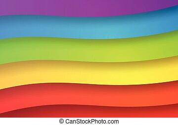 astratto, carta, arcobaleno, arte, illustrazione, colorito, fondo, vettore, forma