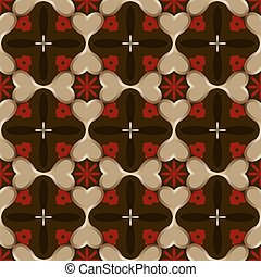 astratto, carta da parati, pattern., seamless, scuro, vettore