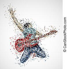 astratto, chitarrista