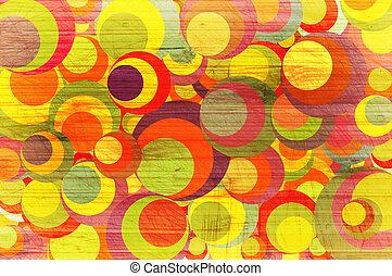 astratto, circles., colore, fondo
