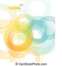 astratto, circles., illustrazione