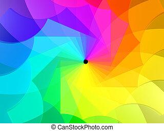 astratto, colori, spirale, fondo, 3d
