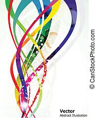 astratto, colorito, baluginante, onda