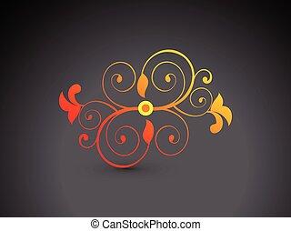 astratto, colorito, forma, floreale