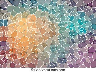 astratto, colorito, mosaico, fondo