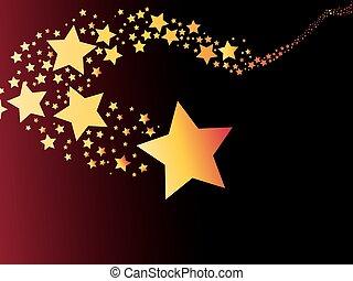 astratto, cometa, riprese, luce, stella