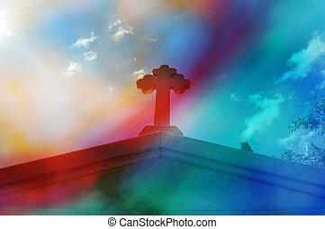 astratto, croce, mausoleo