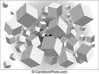 astratto, cubi, fondo