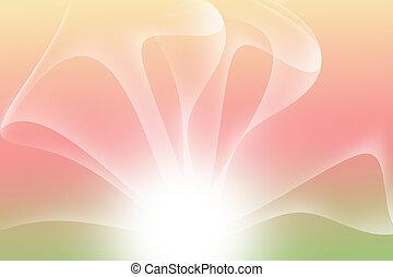 astratto, curva, multicolor, fondo