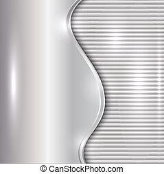 astratto, curva, zebrato, vettore, fondo, argento