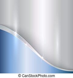 astratto, curve, metallico, vettore, fondo, prezioso