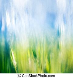 astratto, erba, cielo