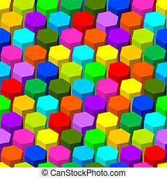 astratto, esagono, pattern., seamless