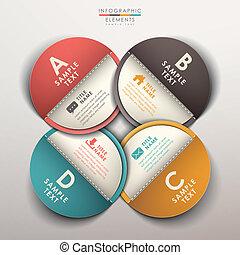 astratto, etichetta, 3d, infographics