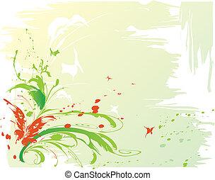astratto, farfalle, fondo