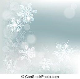 astratto, fiocchi neve, fondo, neve
